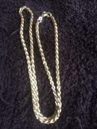 """18""""Silver-plated Rope chain necklace Edmonton, T5W 2X2"""