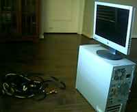 black flat screen computer monitor and black computer tower Kissimmee, 34758