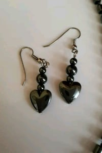 silver and black heart pendant necklace Salaberry-de-Valleyfield, J6T 1P4