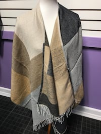 Beige Color Block Wrap