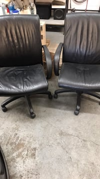 two black leather rolling armchairs Boulder, 80301