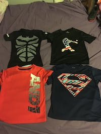 four assorted-color crew-neck t-shirts Gray, 40734