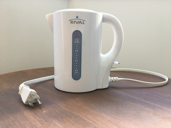white Rival electric kettle