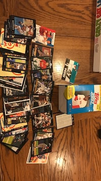 football trading card lot with box