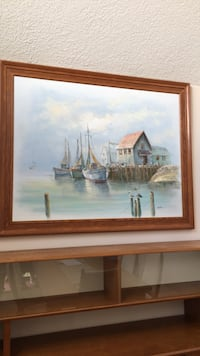 Canvas painting with frame Kitchener