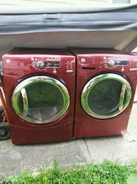 red front-load washer and dryer set McDonald, 44437