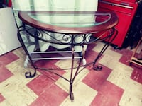 Glass/Wood top accent/entry way table Baltimore, 21230