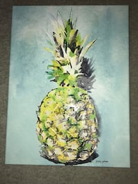 Pineapple wall decor picture