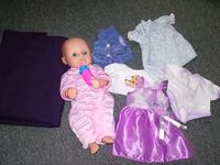 two girl in pink and purple dress dolls Montreal, H1B 5N9