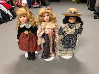 Stand up porcelain dolls $10 each or all 3 for $15 Biloxi, 39532