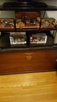black and brown wooden TV stand Toronto, M3H