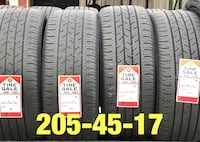 4 used tires 205/45/17 Continental  1206 mi