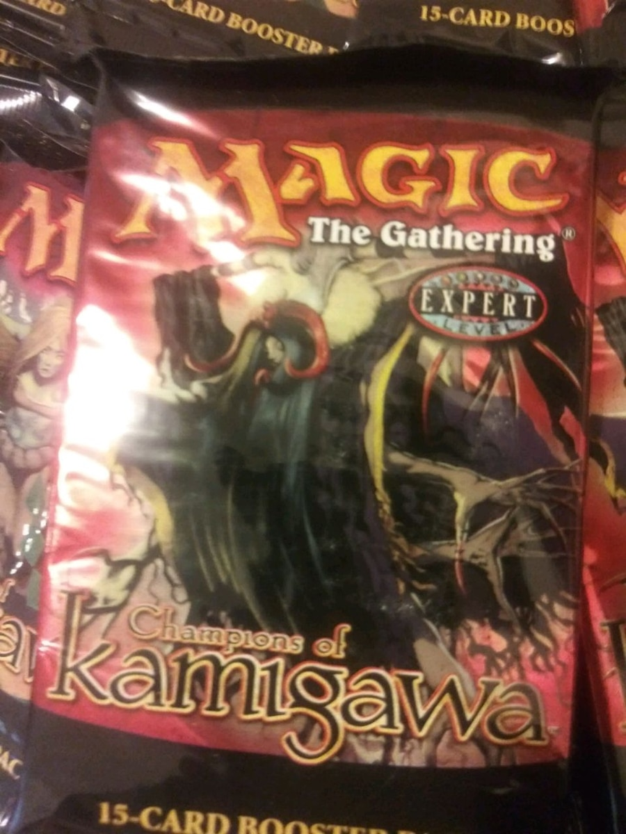Photo Magic The Gathering BOOSTER Packs. I have almost complete box. $18e.