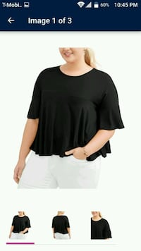 Brand New with Tag, Black Ruffle Blouse Milwaukee, 53216