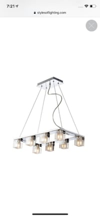 ET2 Xenon chandelier lamp dining room living contemporary modern Los Angeles
