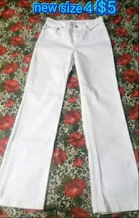 white jeans with text overlay Las Vegas, 89169