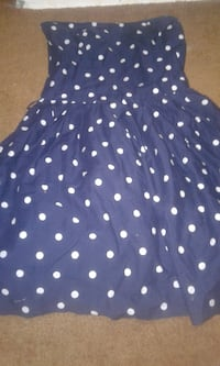 Polka dot blue Hollister dress size medium  EDMONTON