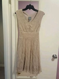 Fit and Flare nude color dress size S regular Centreville