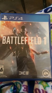 Battlefield 1 ps4 game case Sioux City