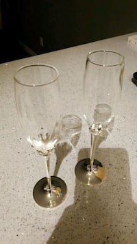 His and hers champagne flutes  Edmonton, T6M 2X9