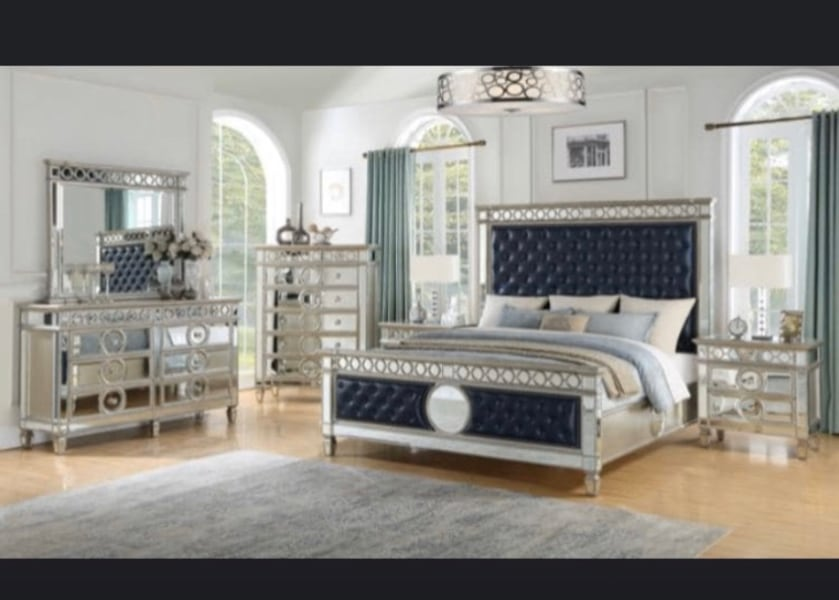 Used Stunning New Fully Mirrored Bedroom Set On Sale Now 39 Down