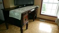 brown wooden framed glass top coffee table Edmonton, T6T 1X4