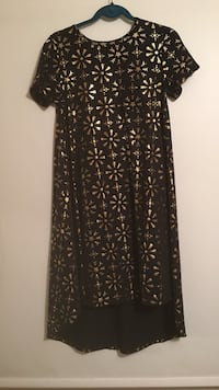 women's black and gold scoop neck dress Bear, 19701