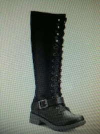 $90 NWT - womens zip up boots size 8.5 boots 9 or 7.5 w RUBBER SOLES