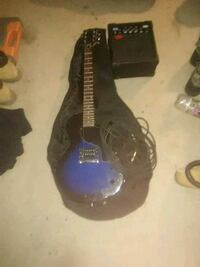 blue and black electric guitar Schroon Lake, 12870