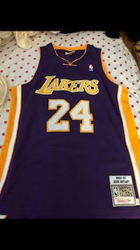 blue and yellow Lakers 24 jersey New York, 10471