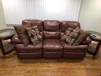 Reclining Leather Couch, Recliner and End Tables Southington, 06489