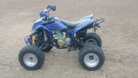 blue and black bashan250cc ATV