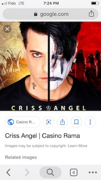 Chris Angel at Casino Rama - pair of tix for Sept 13 New Tecumseth, L0L 0M4