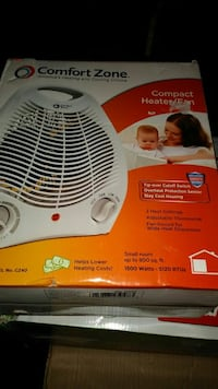 New white Comfort Zone heater fan Candler, 28715