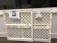 white and gray safety gate brand new I bought $60 but I didn't use every thing in inside plastic bag Surrey, V3R 3W7