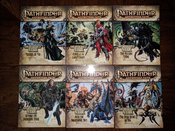 Pathfinder Adventure Path: Shattered Star - COMPLETE SET - Vol 61-66