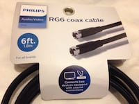 Philips 6-foot RG6 Coaxial Cable - black Long Beach, 90807