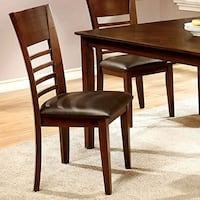 5 Piece Brown Cherry Dining Set with Table with Leaf Arlington