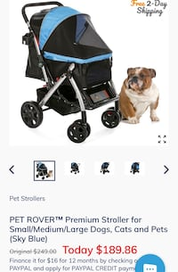 HPZ Pet Rover Premium Heavy Duty Dog/Cat/Pet Stroller Travel Carriage With Convertible Compartment/Zipperless Entry/Reversible Handle Bar/Weather Resistance for Small, Medium and Large Pets New York, 11373