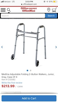 New walker folding with button Blackwood, 08012