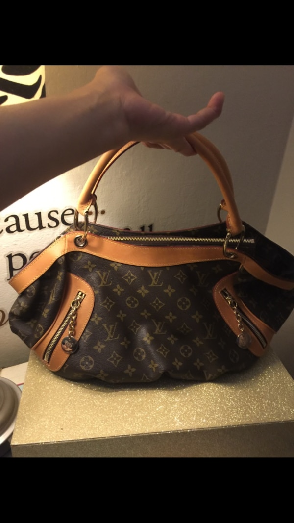 87a51842be57 Used brown and black Louis Vuitton leather hobo bag for sale in Redwood City  - letgo