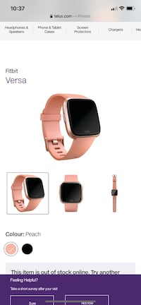 Rose gold Fitbit versa Surrey, V3T 4X8
