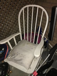 white wooden rocking chair Barrie, L4N 6J3