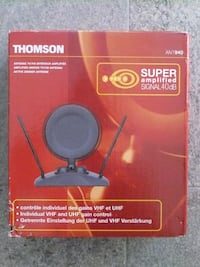 Antena TV/FM Interior Amplificada THOMSON ANT940 Queluz