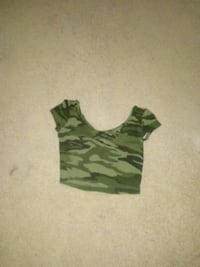 Camouflage Cute Crop Top size small