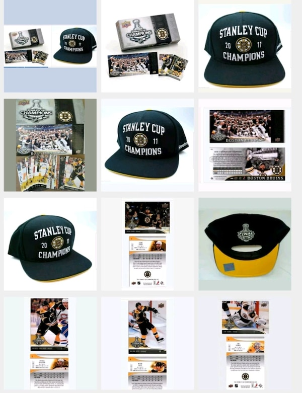 2011 Boston Bruins Stanley Cup Champions Hat Cards b2d10e5a-eac4-4ebe-9af9-5daada227f40