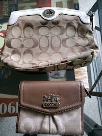 Coach clutch and wallet
