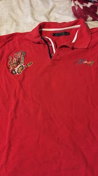 5x Coogi long sleeve polo Hand embroidered Racine, 53405