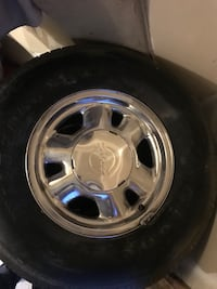 chrome 5-spoke car wheel with tire Bethesda, 20817