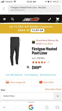Motorcycle heated pants liner and controller